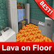 Lava on Floor Map for Minecraft MCPE by BestMapsAddons