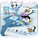 Cute Penguin Theme Ice Snow World by LXFighter-Studio