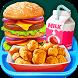 School Lunch Food - Burger, Popcorn Chicken & Milk by Kids Crazy Games Media