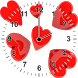 Love Heart Analog Clock Widget by Amazing BuPepa World