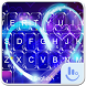 Neon Heart Keyboard Theme by Sexy Free Emoji Keyboard Theme