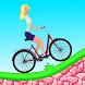 Biker Girl Cycling Hill Climb by Mobibi