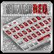 Silver Red Glitter Keyboard Theme by Creative Theme Designer
