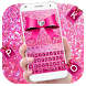 Pink Glitter Bowknot Keyboard Theme by Rainbow Internet Technology