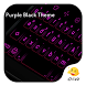 Purple Black Emoticon Keyboard by Eva Awesome Theme