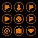 Orange On Black Icons By Arjun Arora by Arjun Arora