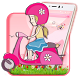 Salmon Pink Scooter Girl Theme by stylish android themes