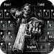 Death skull Gun Theme Keyboard by cool theme creator