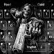 Death skull Gun Theme Keyboard by cool theme creator