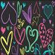 Girly Hearts Keyboard Skin by Stealthychief Keyboard Themes