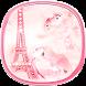 Paris Tower Diamond pink Theme by Best Custom Theme