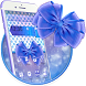 Indigo Blue Polka Bow Theme by stylish android themes