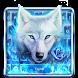 Blue Fire Wolf Keyboard Theme by HD Live Wallpaper 2017