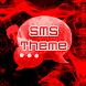 Red Smoke Theme GO SMS PRO by Workshop Theme