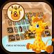 Cute Giraffe Theme&Emoji Keyboard by Music Emoji Keyboard Theme