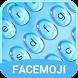 Blue Water Drop Keyboard Theme & Emoji Keyboard by Fun Free Keyboard Theme