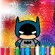 Coloring Lego Batman by neomas10