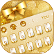 Golden Glitter Keyboard by Creative Theme Designer