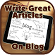 Write Great Articles On Blog by Zibun
