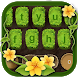 Grass keyboard. Plant, flower keyboard