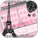 Pink Paris Theme Rose Keyboard by ChickenAnt Themes