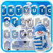 Blue Christmas Keyboard Theme by Fashion theme for Android-2018 keyboard