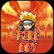 Fire Ninja Boy Theme&Emoji Keyboard by Music Emoji Keyboard Theme