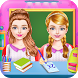 Twins Sisters Girls School First Day at Classroom by uGoGo Entertainment