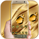 Luxury Gold Crystal Theme by Keyboard Theme Artist (Smart Keyboard And2017)