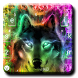 Colorful Wolf Keyboard Theme by Fashion theme for Android-2018 keyboard