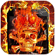 Fire Hell Skull Launcher Theme by Hiro studio