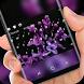 Graceful Purple Flower HD Wallpaper Keyboard by Super Hot Themes Design Studio