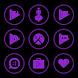 Purple On Black Icons By Arjun Arora by Arjun Arora