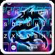 Blue Neon Dragon Keyboard by 7star princess
