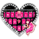 Pink Glamour girl Keyboard Theme by Kika Best Theme for Android
