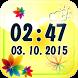 Flower Digital Weather Clock by The World of Digital Clocks