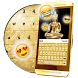 Gold Glitter Keyboard Theme ✨