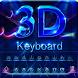Neon 3D Typewriter-Hologram by Big Bing Keyboard theme design
