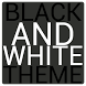 Black & White Icon THEME★FREE★ by Kyle.Designed.Me