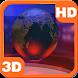 Virtual News Futuristic Studio Globe