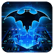 Bat Hero Blue Neon Keyboard by Bestheme Keyboard Designer 3D &HD
