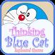 Thinking Blue Cat Theme&Emoji Keyboard by Music Emoji Keyboard Theme
