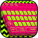 Dazzling Fluorescent Keyboard Theme by HD Themes and Wallpaper