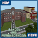 Map School and Neighborhood for MCPE by Funtik Games