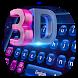 3D Laser tech keyboard by Bestheme Keyboard Designer 3D &HD