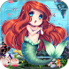 Cute mermaid Keyboard Theme Cartoon mermaid