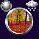 Autumn Clock Weather Widget by Compass Clock and Weather