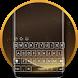 Gold S8 Keyboard Theme by Keyboard Theme Studio
