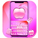 Pink Apple Keyboard Theme by NYC Beauty Themes