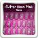 Glitter Neon Pink Theme by Color Keyboards